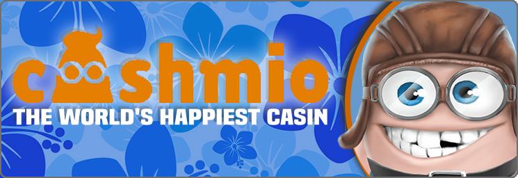 Cashmio 20 tours gratuits sans dépôt + Bonus de 100%