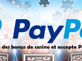 les bonus de casino PayPal